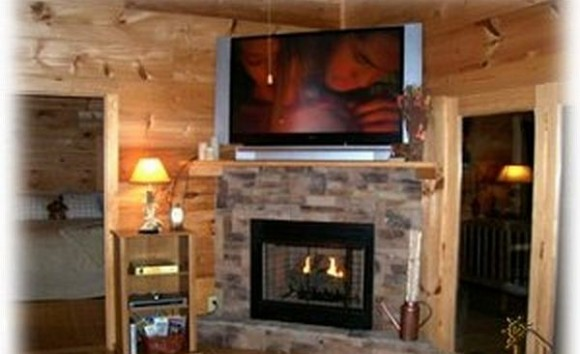 Corner Fireplace TV