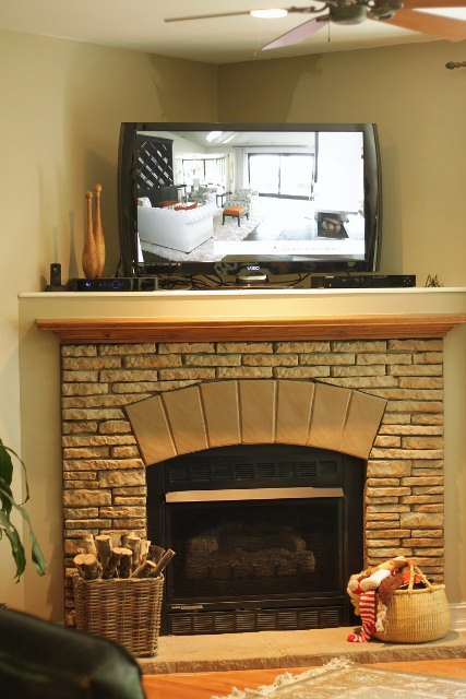 Corner fireplace decorating ideas dream house experience Corner fireplace makeover ideas
