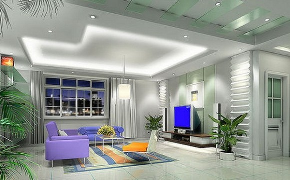 False Ceiling Design for Drawing Room
