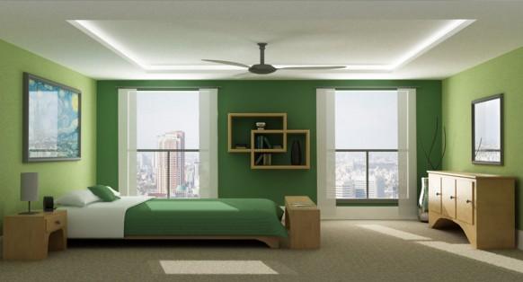 Green Color Bedroom Walls