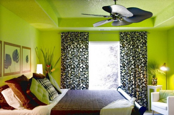 Green and Black Bedrooms