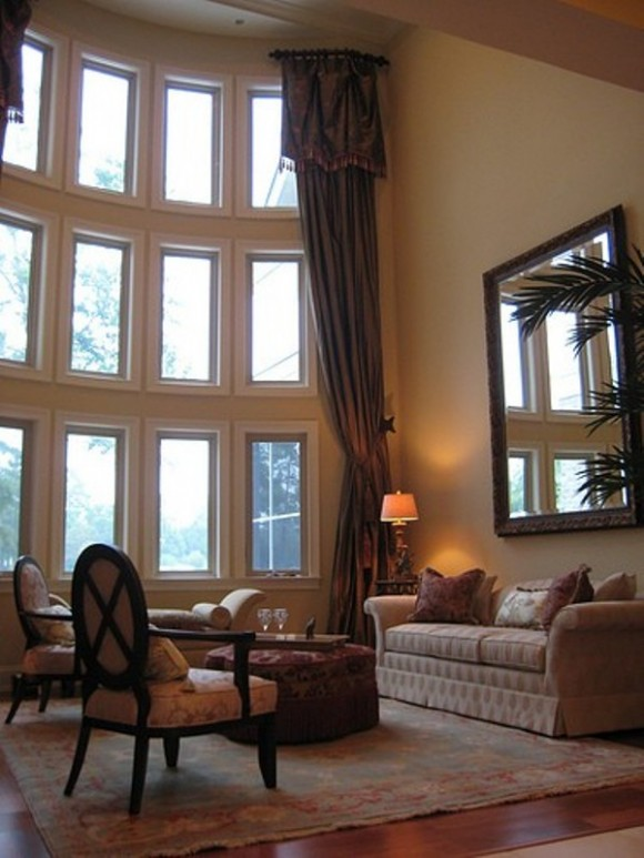 High Ceiling Curtain Designs