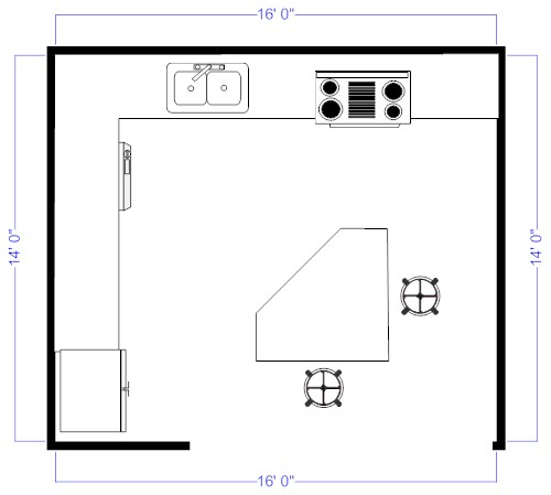 Island Kitchen Floor Plans