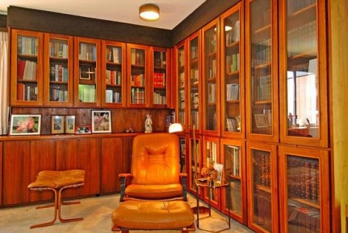 Small Library And Room Decoration Home Decorating Ideas: small library room design ideas