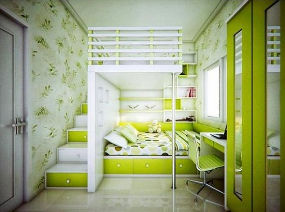 Lime Green Bed Room Kids