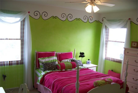 Lime Green Kids Bedroom