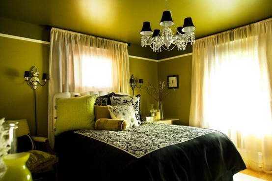 Beauty Of Green And Black Bedrooms Home Decor Report