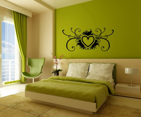Master bedrooms with green walls with the freshness and nature looks home decor report Master bedroom with green walls