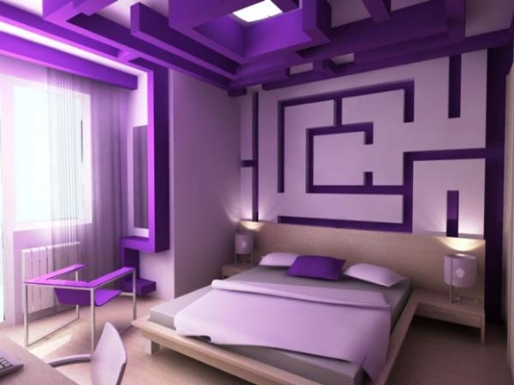 Purple Bedroom Designs Modern