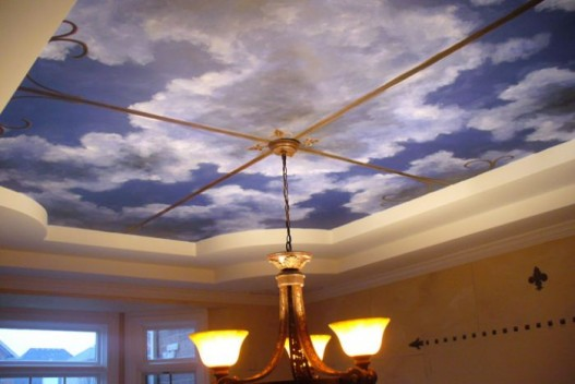Simple ceiling designs pictures for interior home decor for Dining room ceiling paint ideas