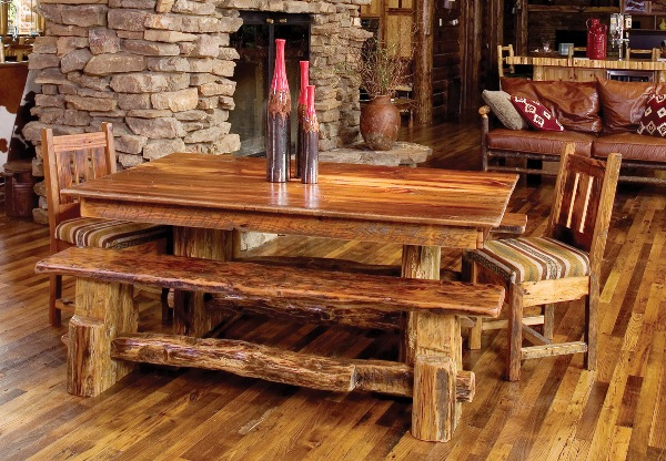 Wood Dining Table Bench