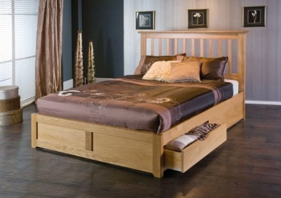 Wooden Bed Frame Drawers