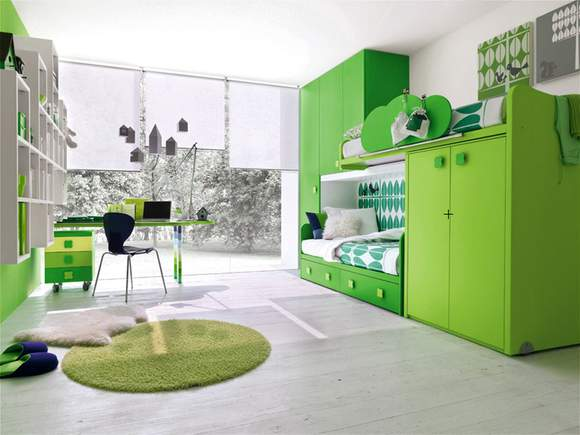 Bright Green Bedrooms