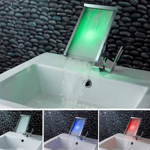 Contemporary Waterfall Bathroom Sink Faucet