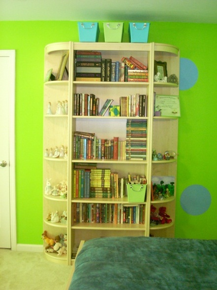 Lime Green Library Walls