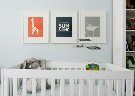 Making White Walled Nursery Look Good