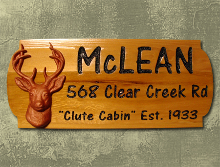 Rustic Wood Address Signs