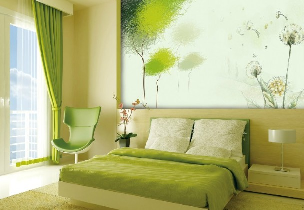 Bright Green Bedroom Curtains
