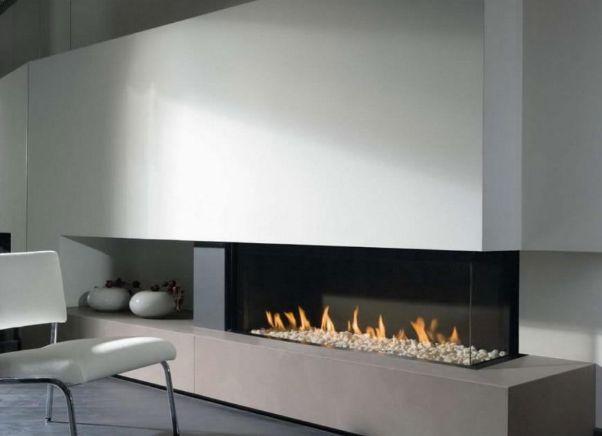 Minimalistic modern fireplace