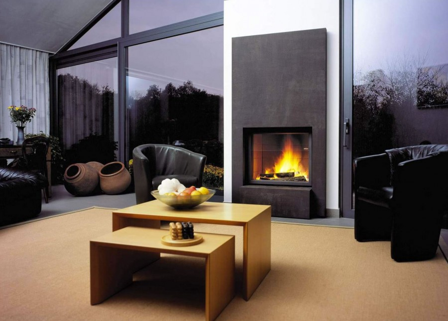 modern fireplace ideas for your living room home decor report. Black Bedroom Furniture Sets. Home Design Ideas