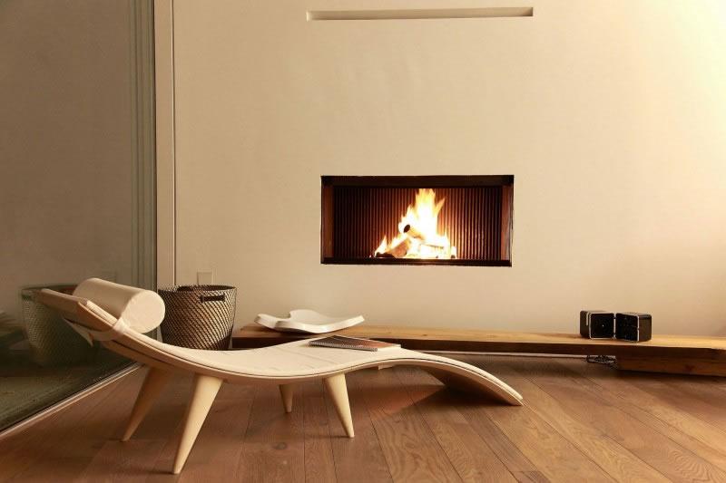 Simple modern fireplace